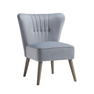 Waylon Gray Modern Armless Chair