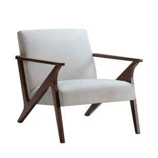 Striker Cream Modern Lounge Chair