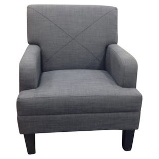 Celeste Contemporary Charcoal Gray Accent Chair