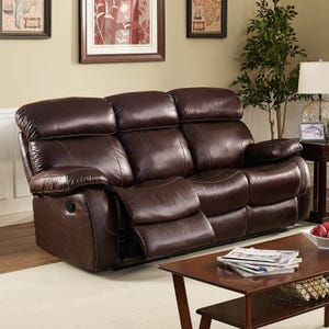 Dante Dark Brown Top Grain Leather Power Reclining