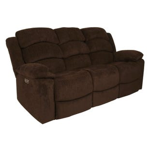 Austin Chocolate Dual Power Reclining Sofa