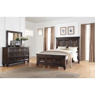 Sevilla Walnut Queen Panel 3 Piece Bedroom Set