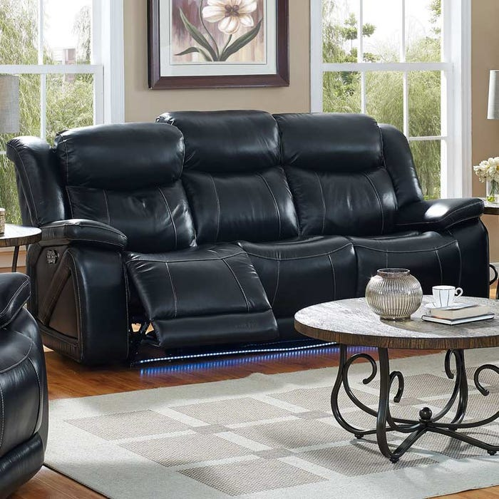 Las Vegas Top Grain Leather Power Reclining Sofa And Head Weekends