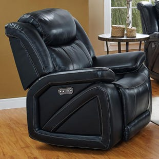 Las Vegas Top Grain Leather Power Recliner and Headrest