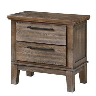 Cagney Two Drawer Nightstand Vintage Gray