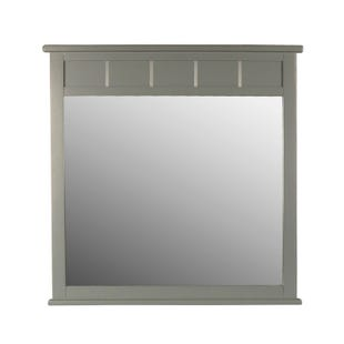 Skyfall Painted Gray Mirror