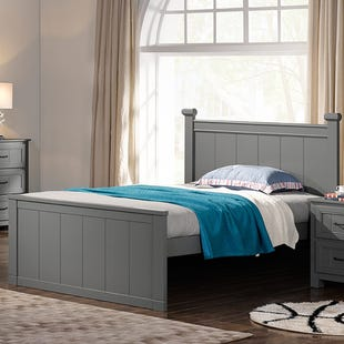 Skyfall Painted Gray Twin Panel Bed