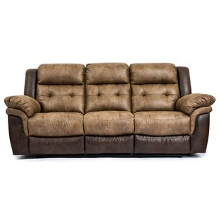 Bonanza Reclining Sofa Brown
