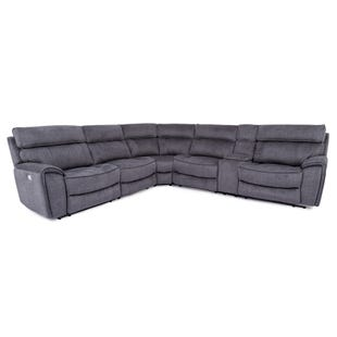 Granada Charcoal/Slate Dual Power Reclining Sectional