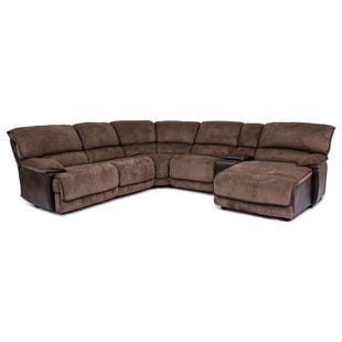 Lawson Java/Coffee Power Reclining Sectional