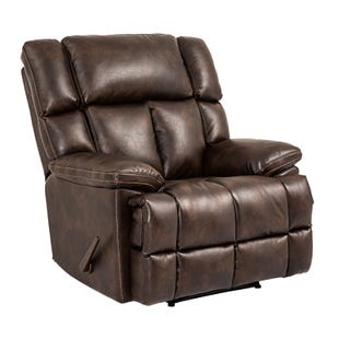 Jude Brown Oversized Leather Power Recliner