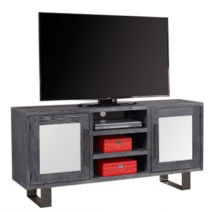 "Aspen Home Cityscape Titanium Mirrored 65"" TV Stand"