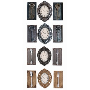 Assorted 3 Piece Kitchen Wall Clock Set