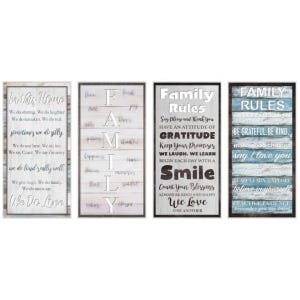 Assorted Family Rules Art