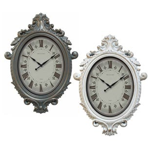Assorted Traditional Oval Wall Clock
