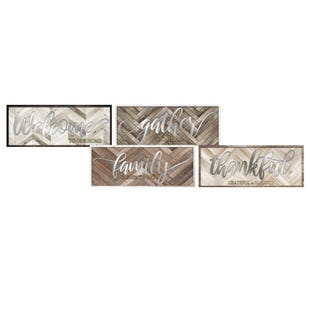 Assorted Life Messages Wall Art