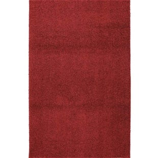 Mohawk Solid Red Shag 5x8 Rug