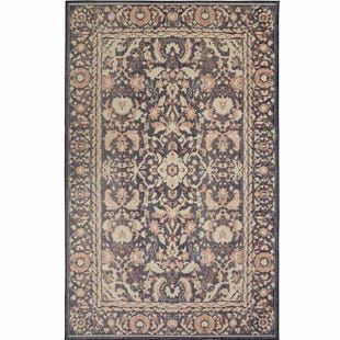 Mohawk Heirloom Traditional Damask Indigo 5x8 Rug