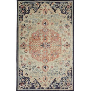 Mohawk Heirloom Tamur Aqua 5x8 Rug