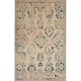 Mohawk Heirloom Bheri Aquamarine Damask 5x8 Rug