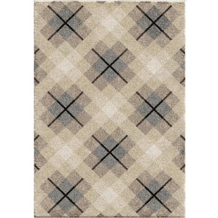 Criss Cross Plaid Shag 5X8 Rug
