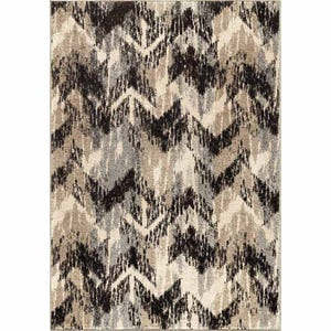 Distressed Chevron Chevron 5x7 Rug
