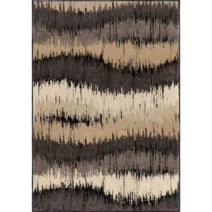 Brushed Waves 8x11 Rug Neutral Tones