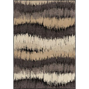 Brushed Waves 5x8 Rug Neutral Tones
