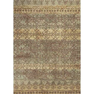 Kas Marrakesh Beige Stripe Wool 8x10 Rug
