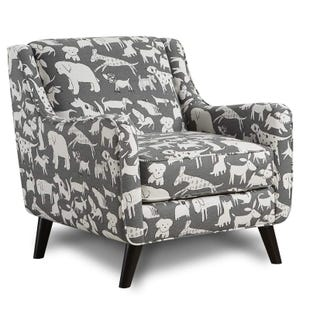 Fusion Best Friend Gray Accent Chair