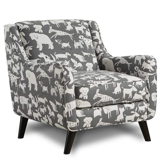 Sensational Fusion Best Friend Gray Accent Chair Caraccident5 Cool Chair Designs And Ideas Caraccident5Info