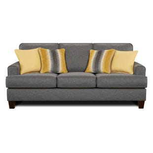 Fusion Maxwell Steel Gray Contemporary Sofa