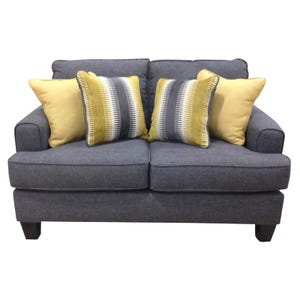 Track Arm Maxwell Loveseat Gray