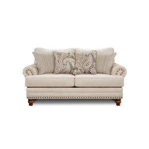 Fusion Carys Cream Loveseat