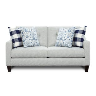 Slope Arm Manchester Loveseat Cream