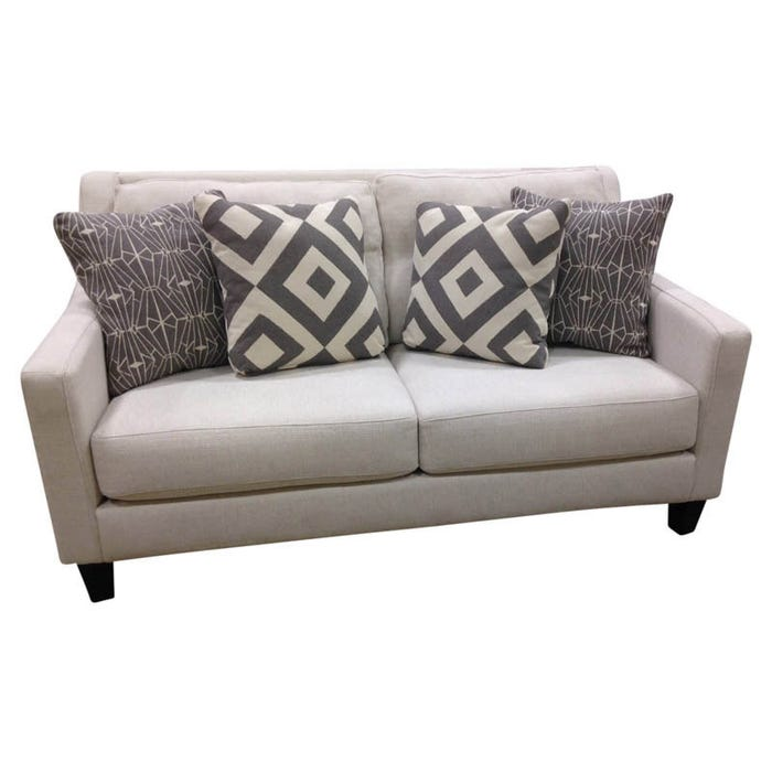 Fusion Sugarshack White Contemporary Loveseat | Weekends Only Furniture