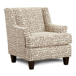 Fusion Kuba Geometric  Accent Chair