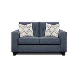 Fusion Charlie Denim Loveseat