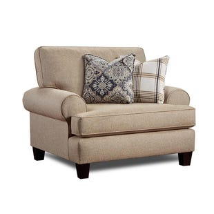 Fusion Whitaker Beige Twill Chair and Half