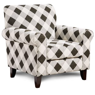 Shadowfax Check Accent Chair Black