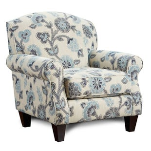 Fusion Maya Indigo Floral Accent Chair