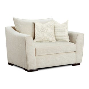 Vision Cream Chair and Half