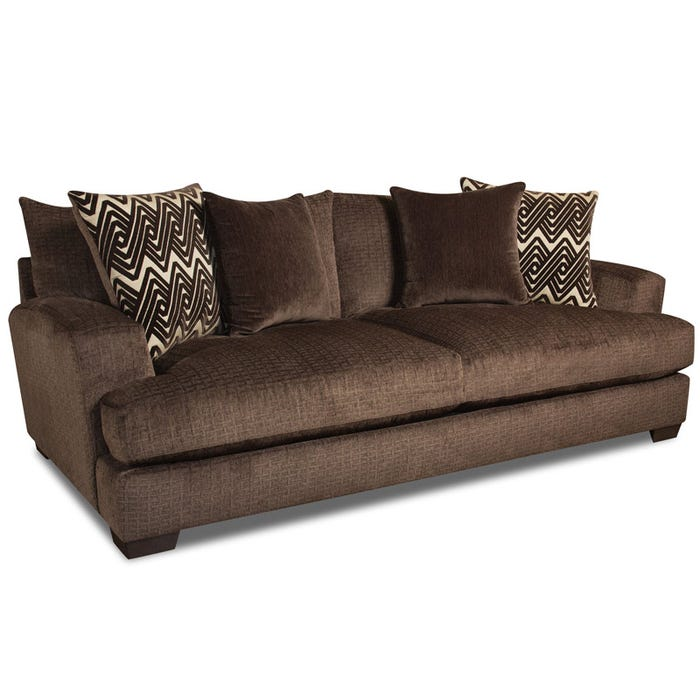 Ultimate Plush Chocolate Chenille Sofa | Weekends Only Furniture