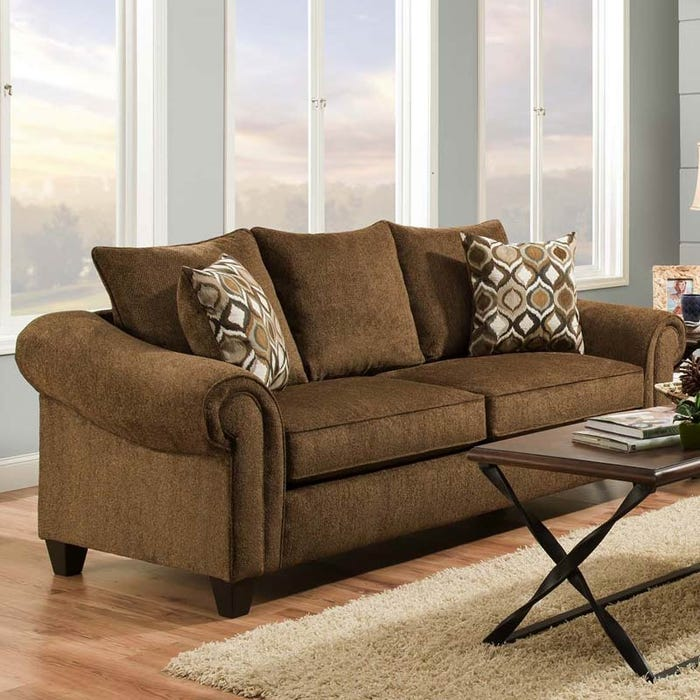 Caravan Chocolate Chenille Sofa | Weekends Only Furniture
