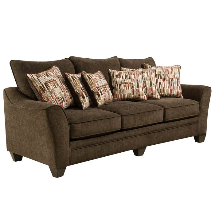 American Julie Java Chenille Sofa | Weekends Only Furniture