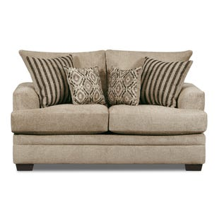 Perth Chenille Loveseat Ivory
