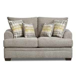 Perth Chenille Loveseat Gray