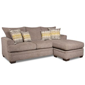 Perth Gray Sofa with Reversible Chaise
