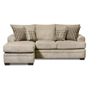 Perth Ivory Sofa with Reversible Chaise