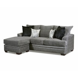 Akan Graphite Sofa with Reversible Chaise